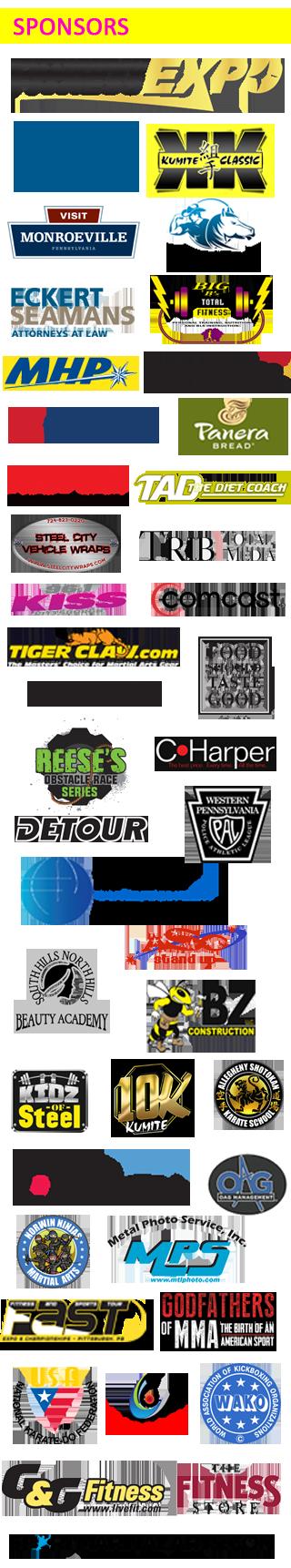 pittsburgh fitness expo sponsors
