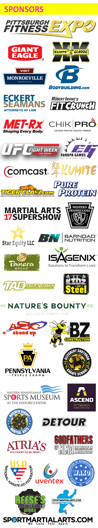 pittsburgh fitness expo sponsors